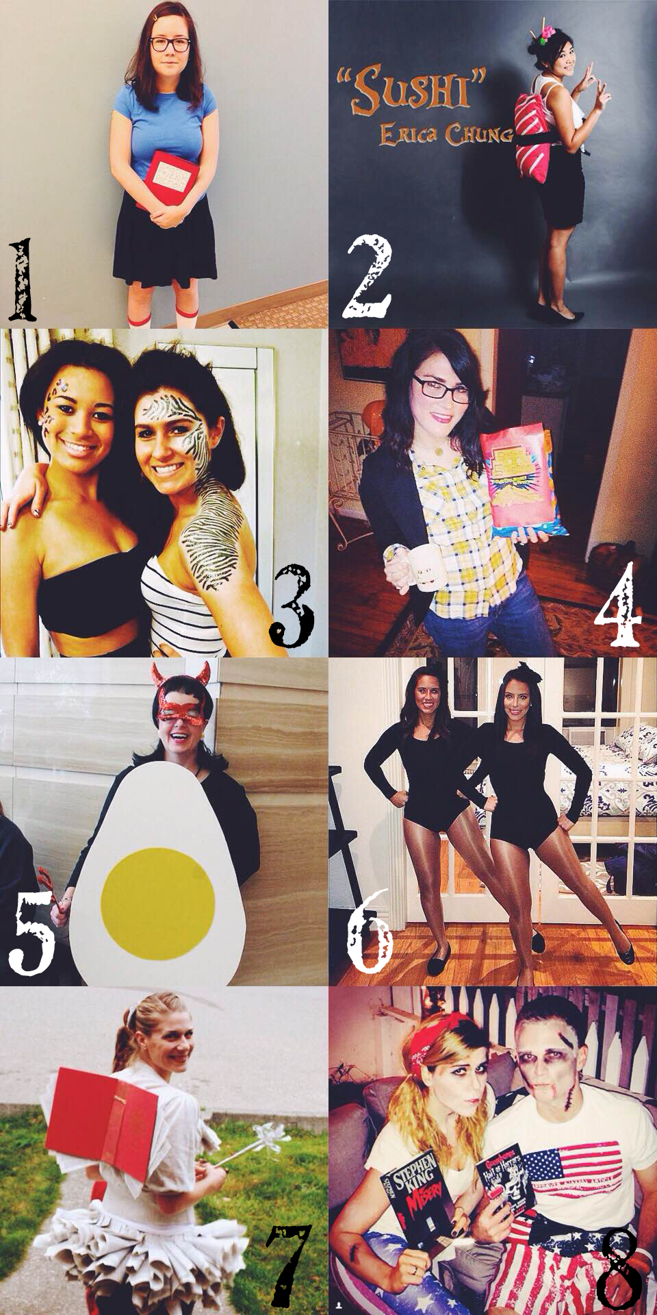 Looking for some Halloween costume ideas? Here's a round up of eight of my favorites I've found on Pinterest this year.