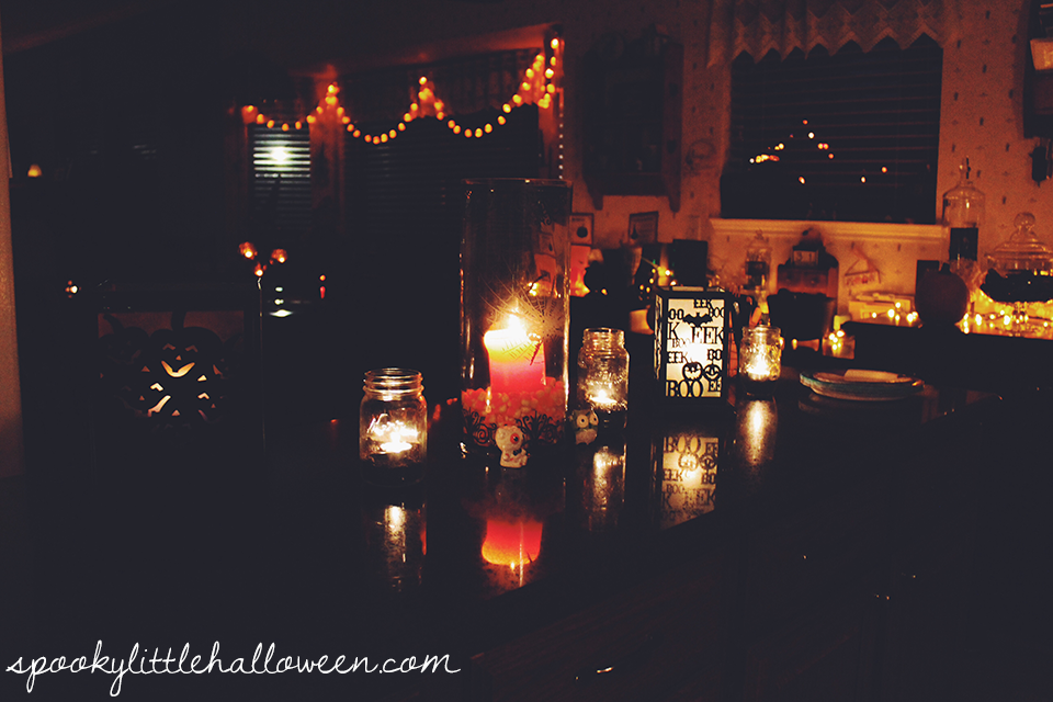 Get a behind the scenes look at the decor for my 2015 Halloween party, the Halloweenie Roast Witches' Ball | spookylittlehalloween.com