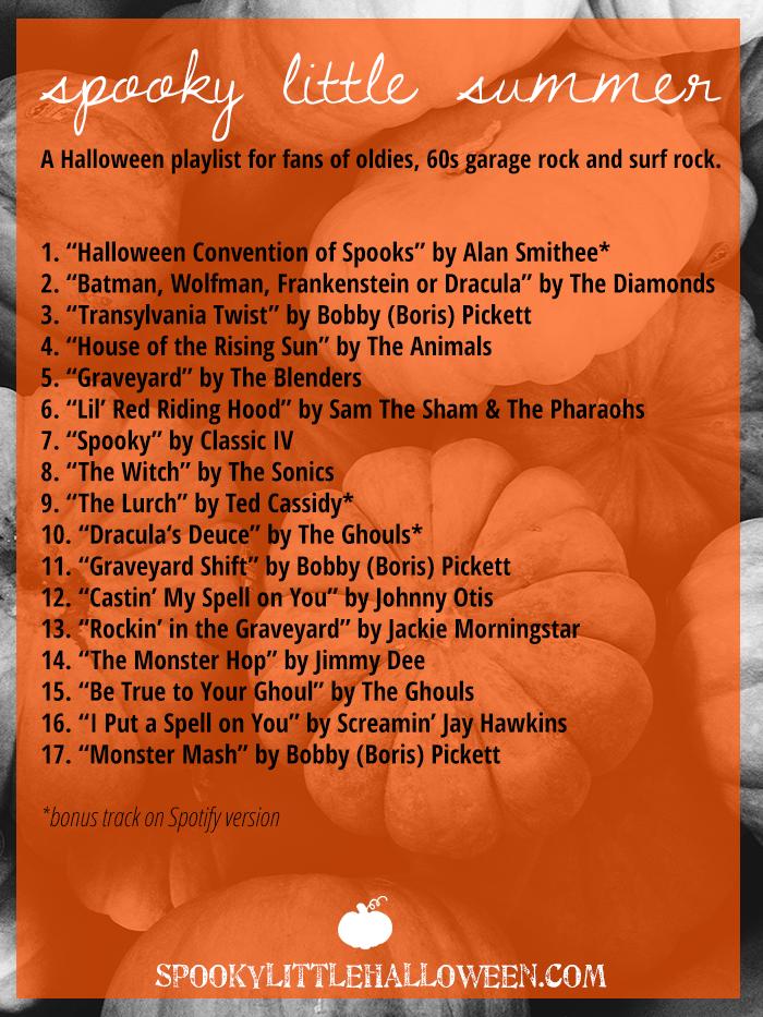 Halloween Music Playlist.Halloween Mixtape Spooky Little Summer Spooky Little Halloween