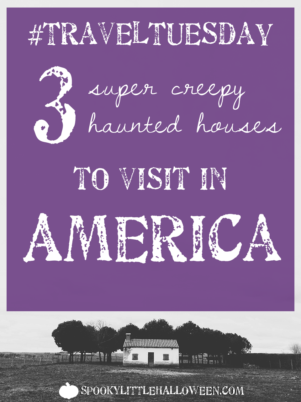 #TravelTuesday: 3 super creepy haunted houses to visit in America - Want to visit some of THE most haunted houses in America? Take a spin through three across the country in this week's #TravelTuesday post. | spookylittlehalloween.com