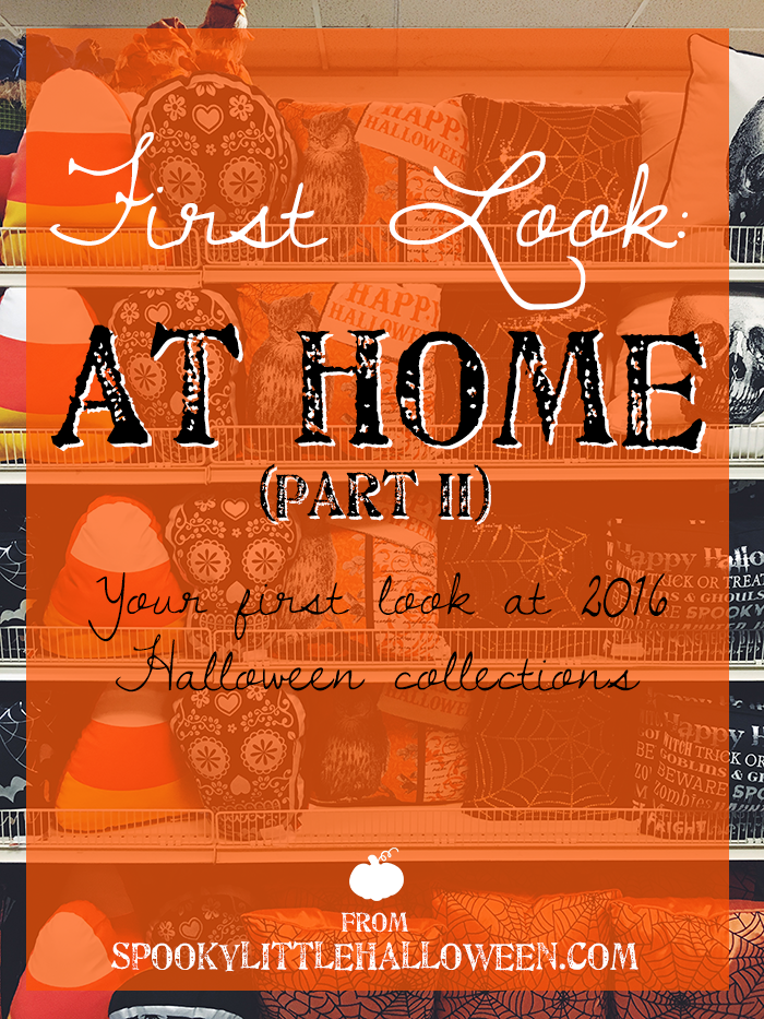 #CodeOrange: Take a first look at At Home's collection for Halloween 2016. From Halloween signs to witches to throw pillows, there's all kinds of goodies.