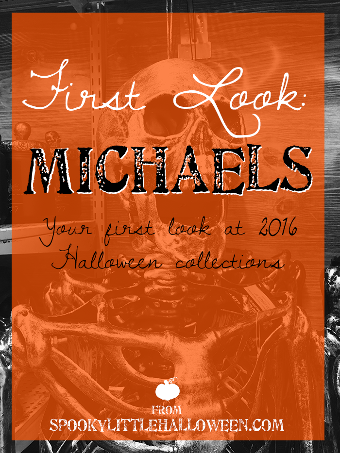First Look: Michaels Halloween 2016 - Halloween 2016 collections are starting to pop up in stores! Here is your first look at Michaels' 2016 Halloween collection + resource links. | spookylittlehalloween.com