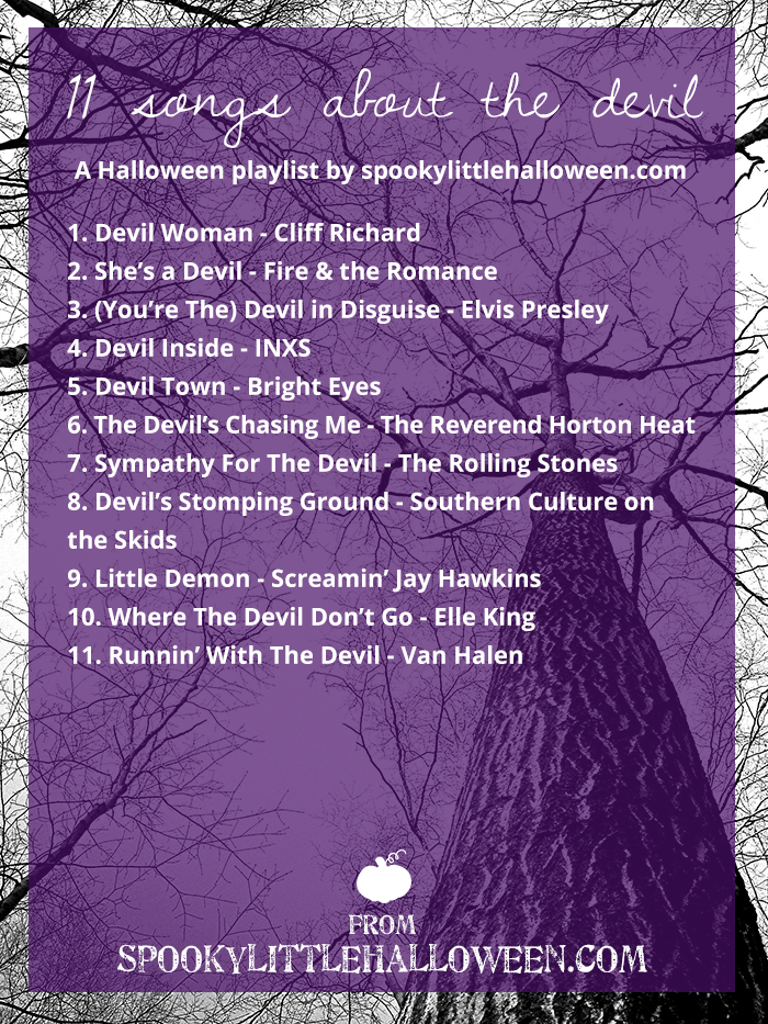 Halloween Mixtape: 11 Songs About the Devil - Spooky Little Halloween