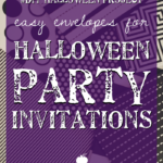 #DIY Halloween Project: Easy Envelopes for Halloween Party Invitations
