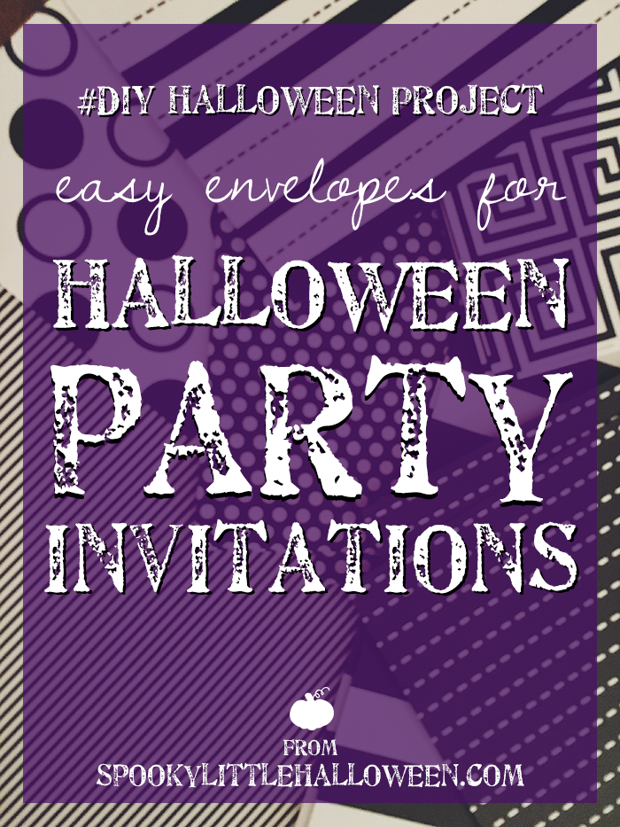 diy halloween project easy envelopes for halloween party