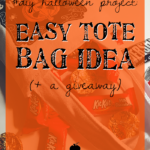 #DIY Halloween Project: Easy Tote Bag Idea