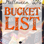 Halloween 2016 Bucket List