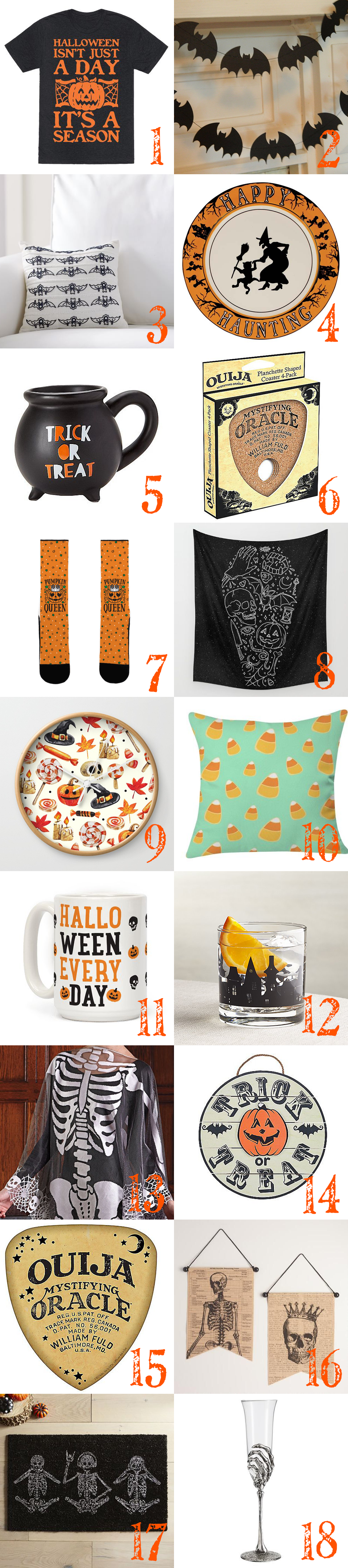 Halloween 2016 Wish List: It's that time of year to ask The Great Pumpkin for all the Halloween goodies on our wish list! Here's everything on my Halloween 2016 wish list + links. | spookylittlehalloween.com