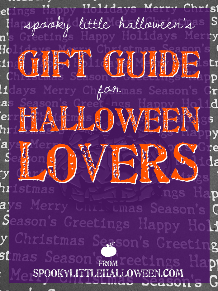 Holiday Gift Guide for Halloween Lovers - Shopping for the spooky person in your life this holiday season? My gift guide for Halloween lovers makes it easy with 23 suggestions! | spookylittlehalloween.com