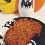 Spooky Little Recipe: Mom's Pumpkin Bread - It's not Halloween season until I've enjoyed a slide of my mom's pumpkin bread. Learn how to make this simple & easy recipe using pantry staples. | spookylittlehalloween.com