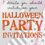7 details you should include on your Halloween party invitations