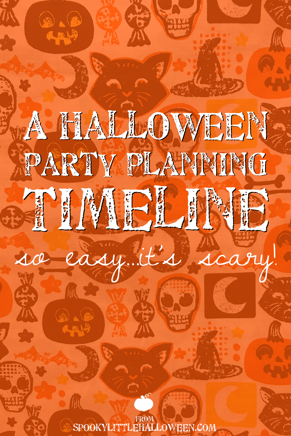 so you want to throw a halloween party but where the heck do you begin and more importantly how do you make sure you have enough time to get everything