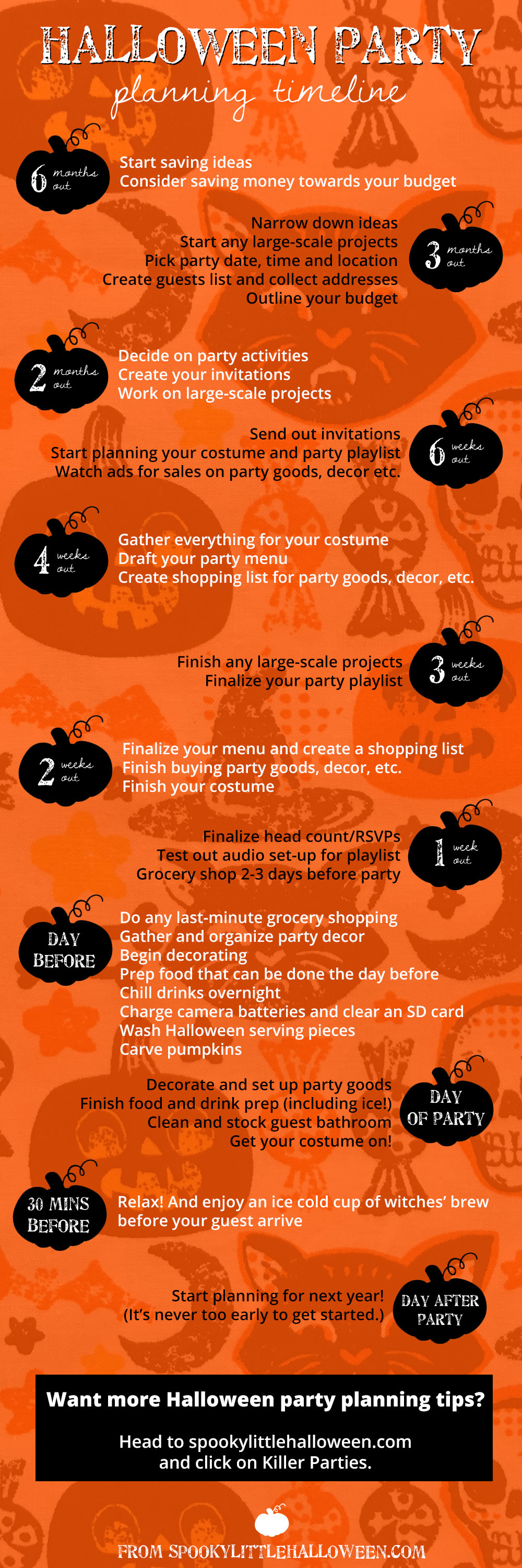 A Halloween Party Planning Timeline So Easy It S Scary Spooky Little Halloween