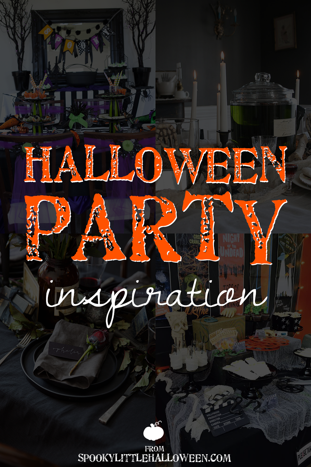 Looking for some Halloween party inspiration? Here are nine to-die-for parties I love, plus three of my own you can copy to celebrate October 31st!
