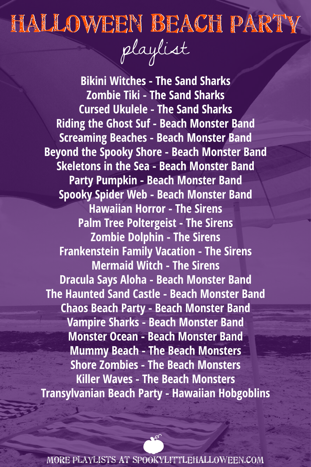 30+ items for a Halloween beach party + a playlist - Spooky Little ...