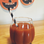 Looking for the perfect pumpkin juice recipe? This one is five simple ingredients and takes less than five minutes to make. Enjoy it this Halloween season!