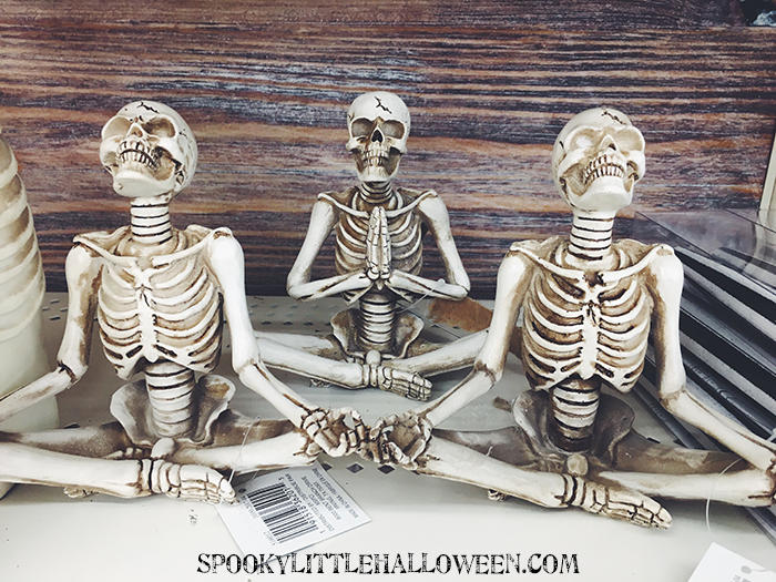these yoga skeletons are everywhere this year - Michaels Halloween Decor