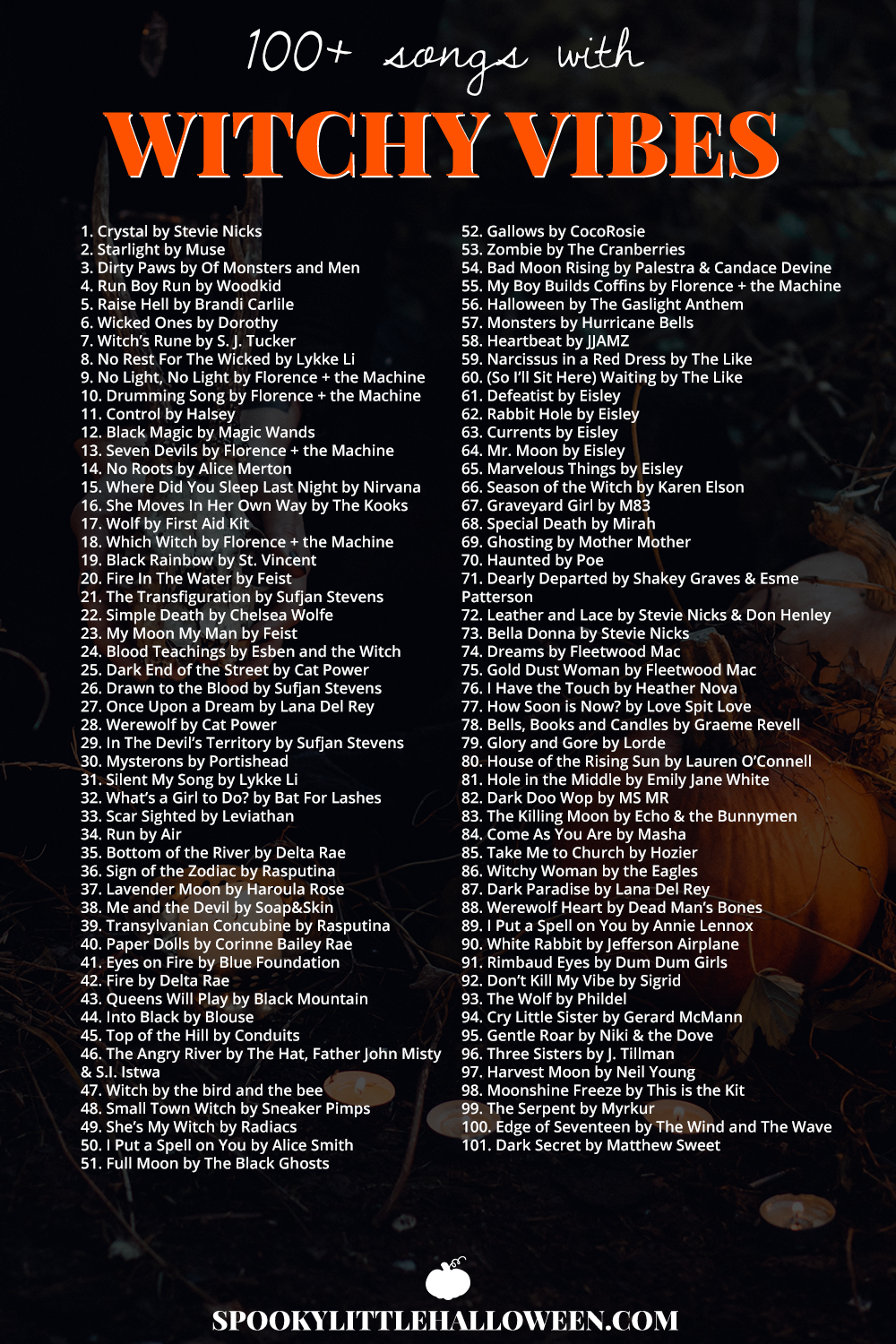 Halloween Music Playlist.My Favorite Songs With Witchy Vibes Spooky Little Halloween