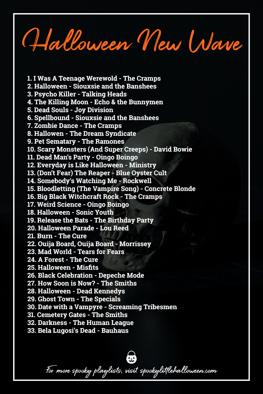 Halloween Music Playlist.Halloween New Wave A Playlist Spooky Little Halloween